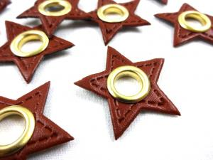S591 Lapp med öljett Stjärna brun