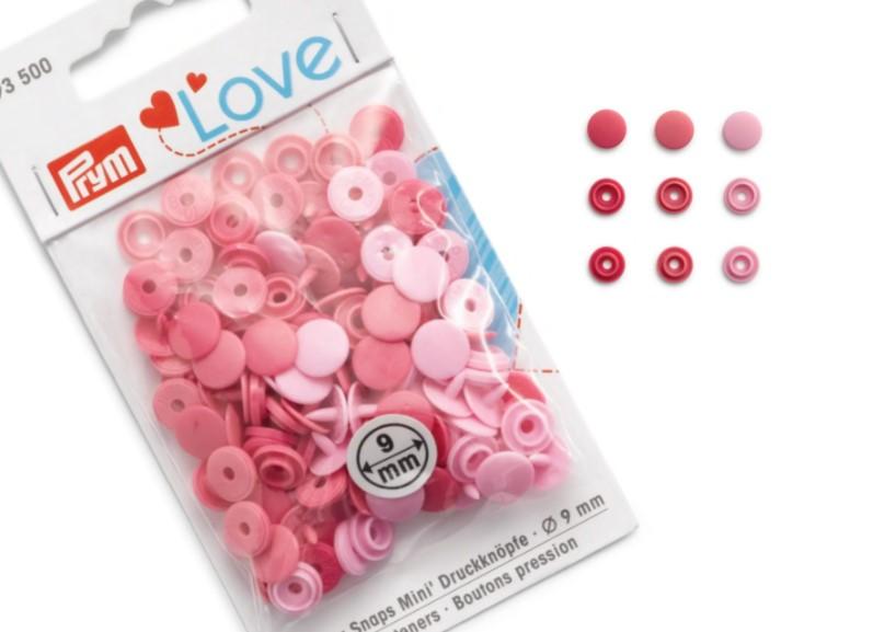 S599 Color snaps mini 9 mm rosa (36 st)