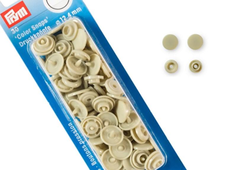 S601 Color snaps 12,4 mm beige (30 st)