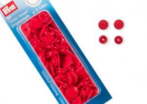 S601 Color snaps 12,4 mm röd (30 st)