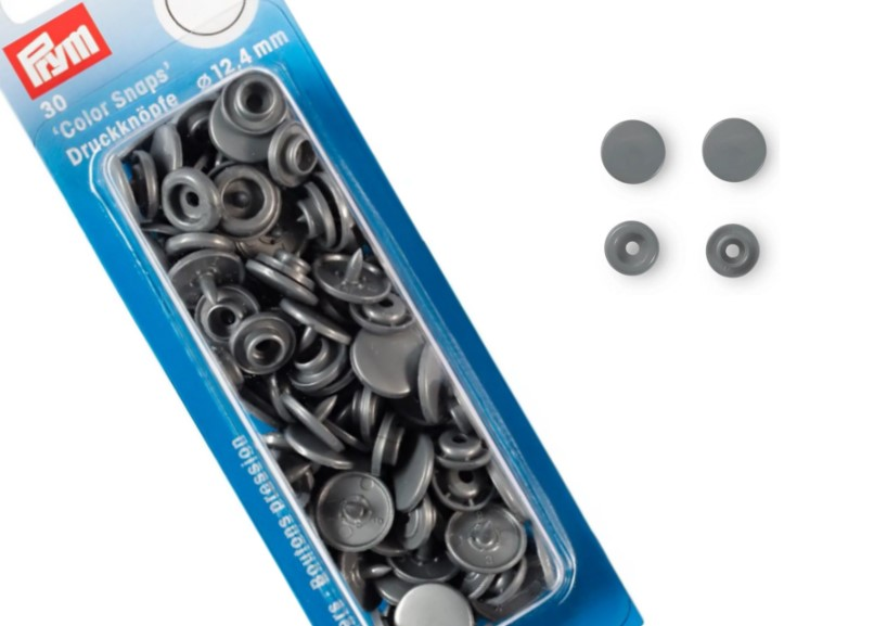 S601 Color snaps 12,4 mm silvergrå (30 st)