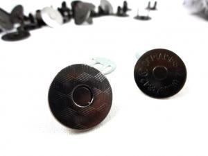S607 Magnetlås med mönster 18 mm mörk nickel