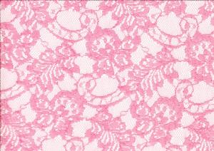 Lace Fabric Flowers coral