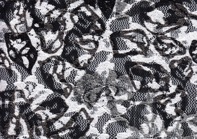Spets vit/grå/svart