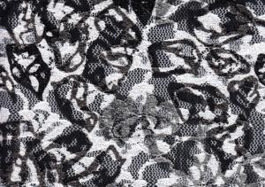 Lace Fabric Pattern white/grey/black