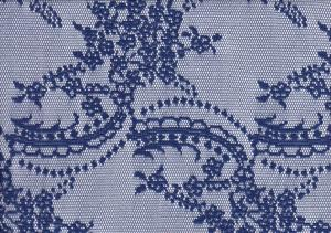 Lace Fabric Flowers blue