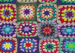 T1825 Jersey Fabric Crocheted Squares