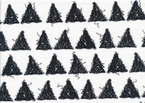T1882 Jersey Fabric Triangles white