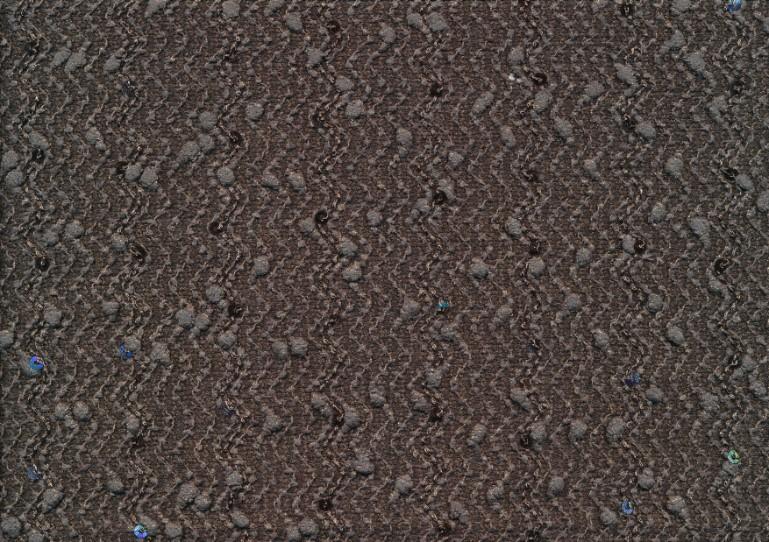 T1941 Kraftig paljettrikå brun