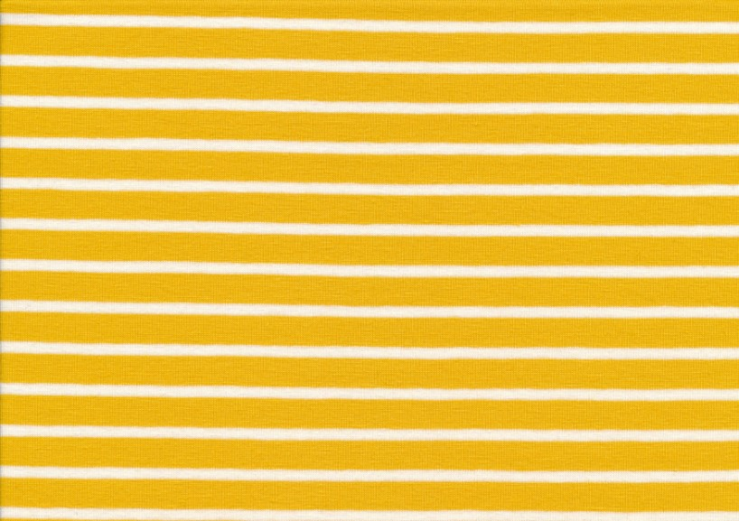 T2687 Trikå Stripes mustard yellow
