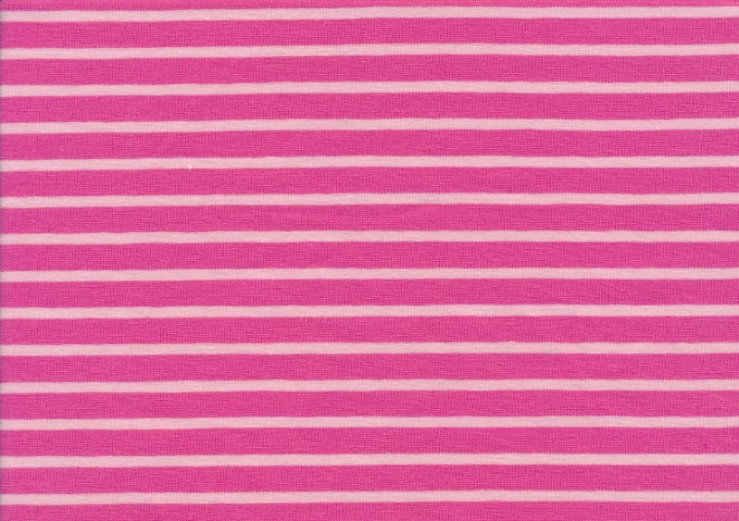 T2687 Jersey Fabric Stripes pink-pink