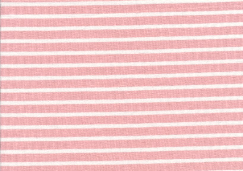 T2687 Trikå Stripes peach rose