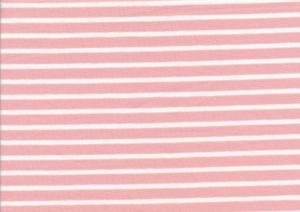 T2687 Jersey Fabric Stripes peach rose