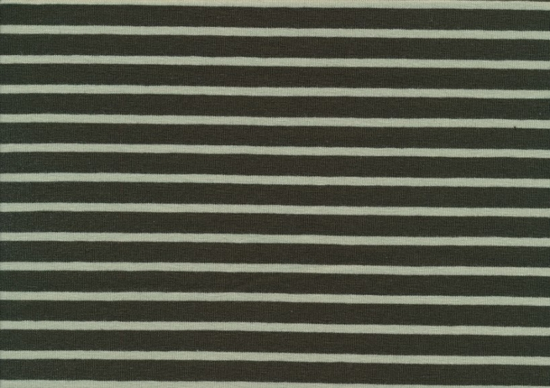 T2687 Jersey Fabric Stripes olive