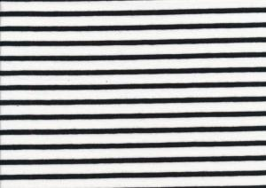 T2688 Jersey Fabric Stripes white-black