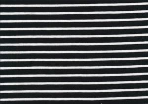 T2688 Jersey Fabric Stripes black-white