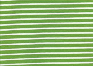 T2688 Jersey Fabric Stripes kiwi-white