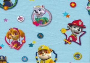 T2806 Jersey Fabric Paw Patrol light blue