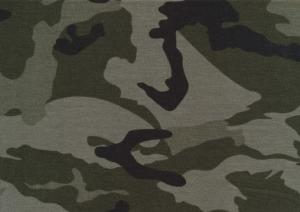 Jersey Fabric Camouflage green
