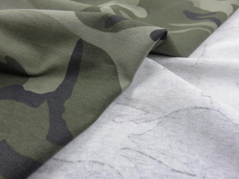 Trikå Kamouflage grön