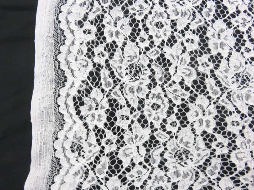 Lace Fabric Floral white