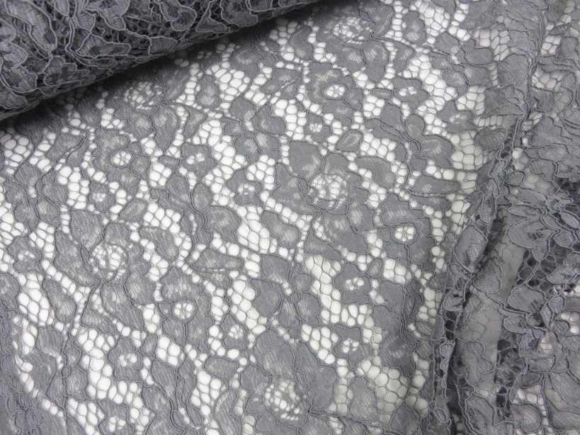 Lace Fabric Floral grey
