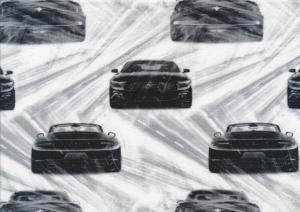T4758 Trikå svarta bilar