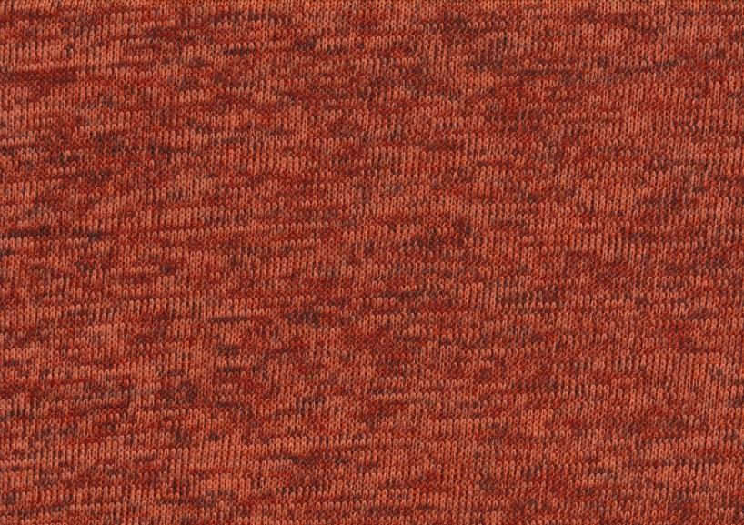 T4786 Trikåfleece brunorange