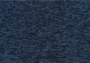 Piece 22 cm - T4786 Knit Fleece Fabric dark blue