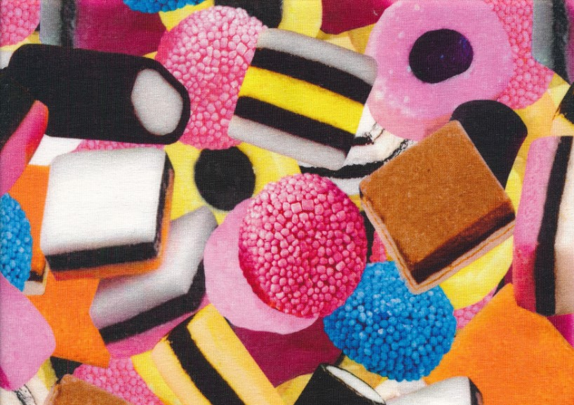 T4811 Jersey Fabric Licorice Candy