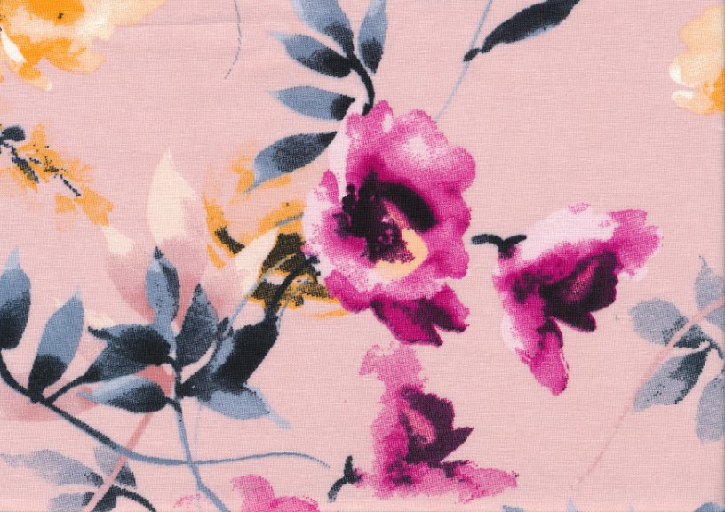 T4815 Jersey Fabric Hibiscus
