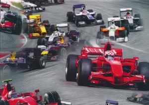 T4926 Trikå Formel 1 röd