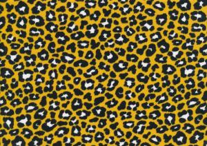 T4996 Jersey Fabric Leopard Mini yellow