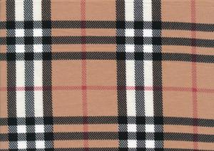 T5009 Jersey Fabric Check beige/red/white