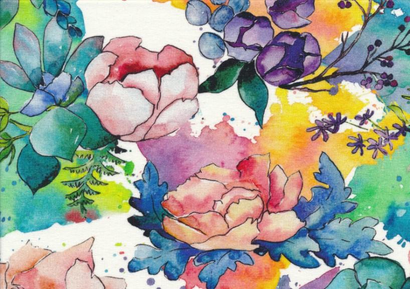 T5029 Joggingtyg Färgglada blommor**