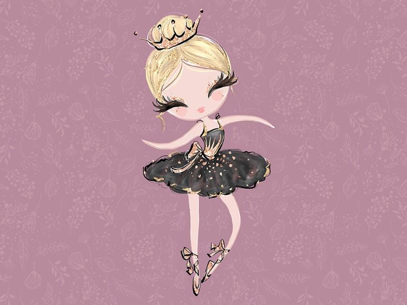 T5096 Joggingtyg Ballerina lila (40 x 50 cm) **