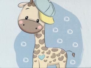 T5103 Sweatshirt Fabric Giraffe in Cap (40 x 50 cm)