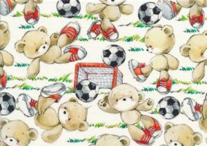 T5168 Sweatshirt Fabric Football Bears
