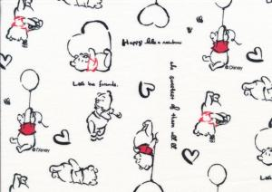 T5217 Jersey Fabric Winnie the Pooh white