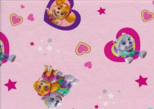 T5234 Jersey Fabric Paw Patrol pink