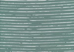 T5267 Jersey Fabric Lines dim green
