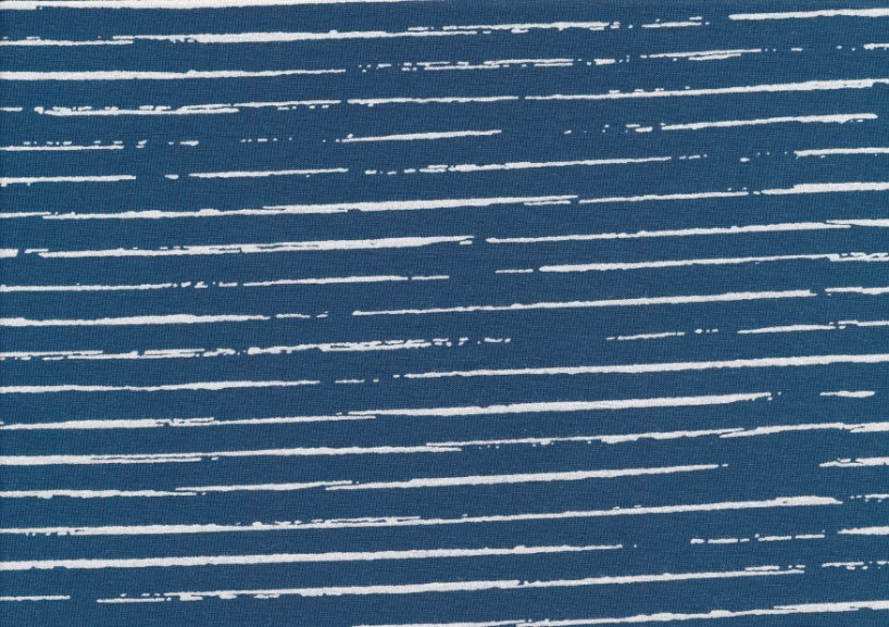 T5267 Jersey Fabric Lines jeans blue