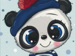 T5318 Sweatshirt Fabric Panda With Hat (40 x 50 cm)