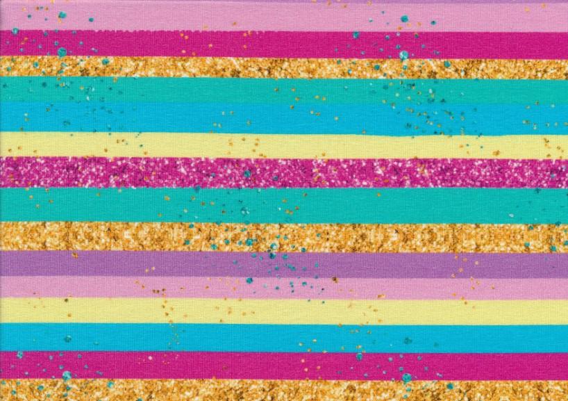 T5326 Sweatshirt Fabric Stripes neon/gold