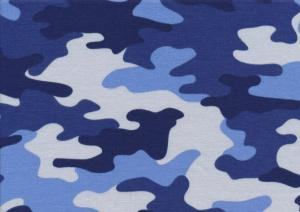 T5332 Sweatshirt Fabric Camouflage blue