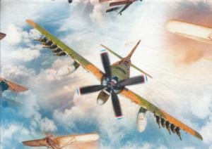 T5339 Jersey Fabric Airplanes