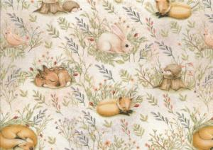 T5380 Jersey Fabric Forest Animals
