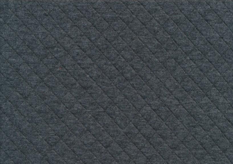 STUV 17 cm - T5381 Quiltmönstrad bomull mörkgrå melerad