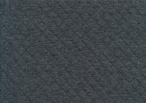 Piece 17 cm - T5381 Quiltpatterned Cotton Fabric dark grey melange