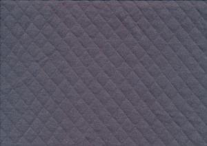 T5381 Quiltmönstrad bomullstrikå mörkgrå